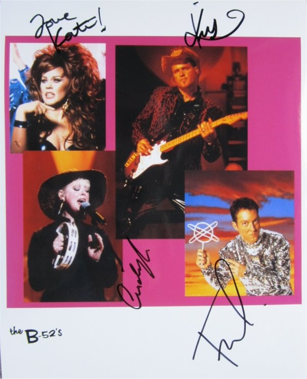 SUPERB B-52s SIGNED PHOTO + COA!!!