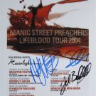 SUPERB MANIC STREET PREACHERS SIGNED PHOTO + COA!!!