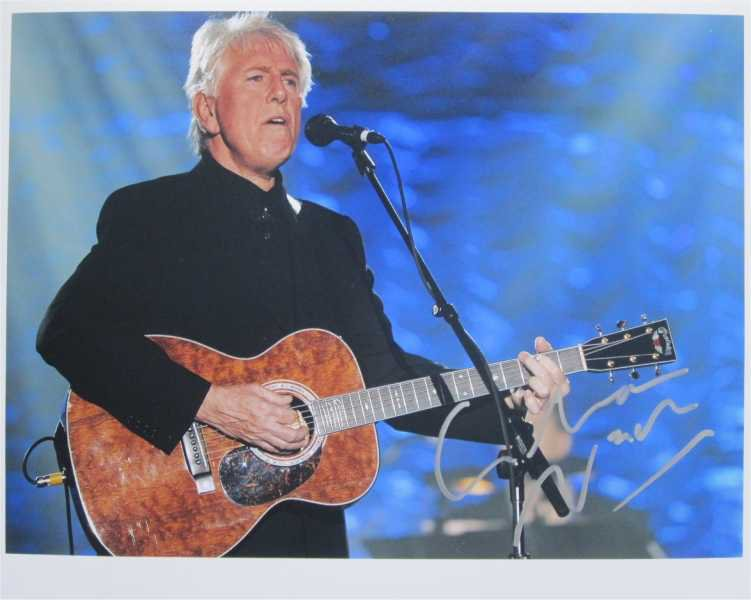 SUPERB GRAHAM NASH (HOLLIES, CROSBY STILLS & NASH) SIGNED PHOTO + COA!!!