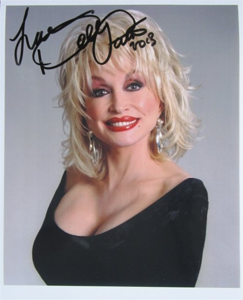 SUPERB DOLLY PARTON SIGNED PHOTO + COA!!!
