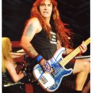 SUPERB STEVE HARRIS (IRON MAIDEN) SIGNED PHOTO + COA!!!