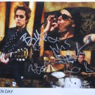 SUPERB GREEN DAY SIGNED PHOTO + COA!!!