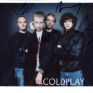 SUPERB COLDPLAY SIGNED PHOTO + COA!!!