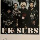 SUPERB UK SUBS SIGNED PHOTO + COA!!!