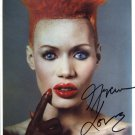 SUPERB GRACE JONES SIGNED PHOTO + COA!!!