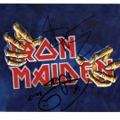 SUPERB IRON MAIDEN SIGNED PHOTO + COA!!!