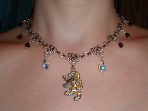 Immortality Undecided, vampire versus werewolf inspired necklace