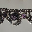 Nightmares and Shadows, gothic altered art charm bracelet