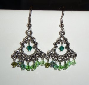 Colors of Ireland, crystal earrings