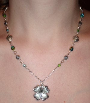 The Faery Dance, shamrock necklace