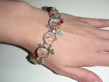 Beauty and The Beast, tale as old as time altered art bracelet