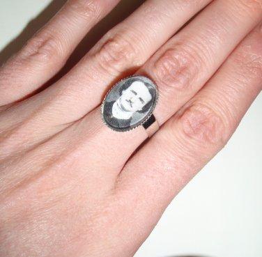 Edgar Allan Poe, poetic portrait ring