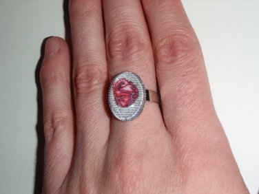Anatomical Heart Ring- Tell Tale Heart Poe