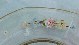 Small Hand Painted Plate Floral Gold Gilt Roses Other Flowers