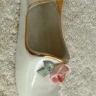 Dresden Glass Shoe with Applied Roses Vintage Ballet Home Decor