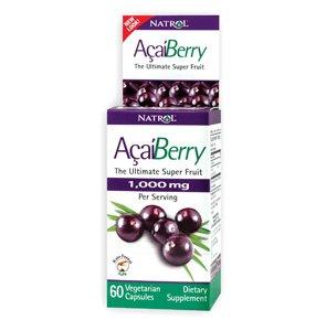 Natrol Acai Berry 1000mg - 60 Veg Caps