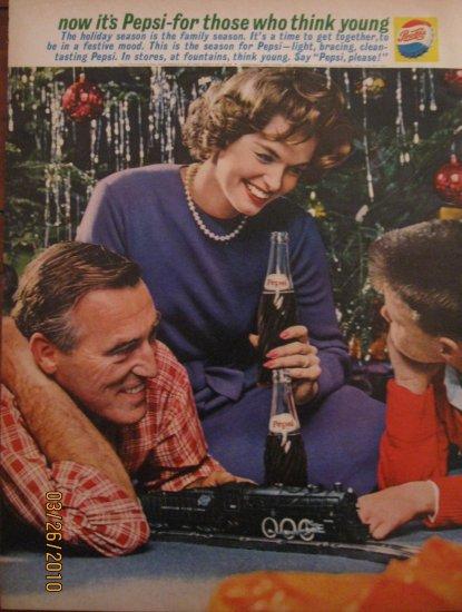 Pepsi 1961 Authentic Christmas Print Ad