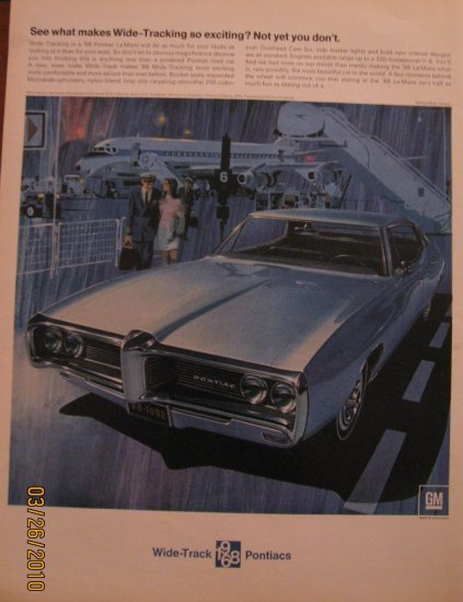 Pontiac Le Mans 1968 Authentic Print Ad
