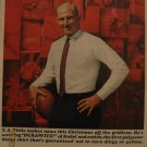 Manhattan Clothing Y.A Tittle 1963 Authentic Print Ad