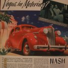 Nash 1937 Authentic Print Ad