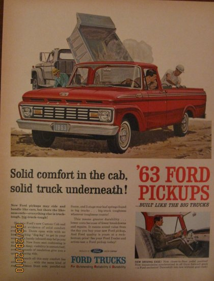 Ford F-100 Truck 1962 Authentic Print Ad
