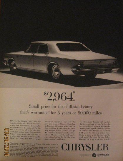 Chrysler 1962 Authentic Print Ad