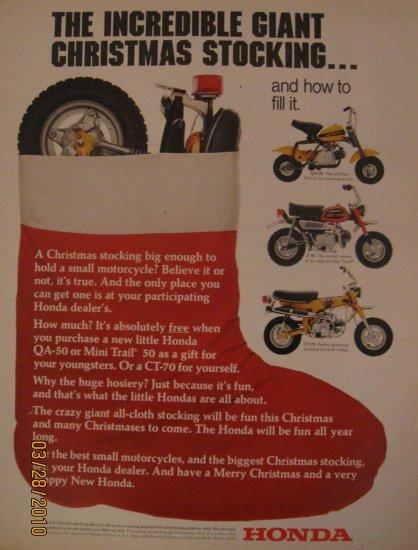 Honda Motorcycles 1972 Authentic Print Ad