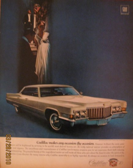 Cadillac 1970 Authentic Print Ad
