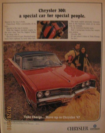 Chrysler 300 1967 Authentic Print Ad