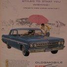 Oldsmobile Cutlass F-85 1962 Authentic Print Ad
