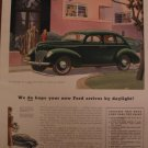 Ford V8 1939 Authentic Print Ad