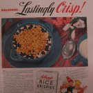 Kellogg's Rice Krispies 1939 Authentic Print Ad