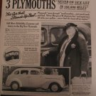 Plymouth 1937 Authentic Print Ad