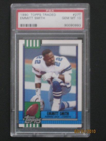 1990 Topps Traded #27T Emmitt Smith PSA 10