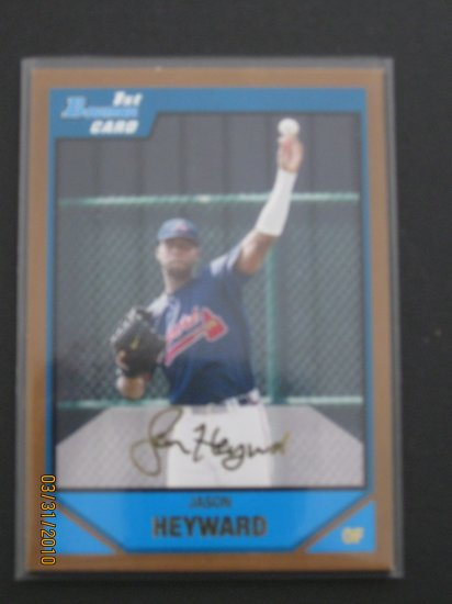 2007 Bowman Gold  #BDPP54 Jason Heyward NM/MT