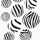 Zebra Wall Vinyl Decor Decals Stickers 17 dots circles