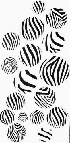 Zebra Wall Vinyl Decor Decals Stickers 17 dots circles