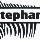 Zebra Print Kids Wall Name Sticker Personalized Removab