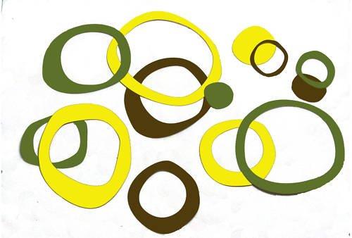 Funky Wall Vinyl Sticker Circles Rings Dots Baby Decor
