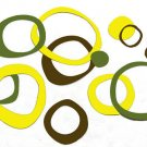 Funky Wall Vinyl Sticker Circles Rings Dots Baby Decor