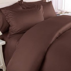 1000 TC Royal Egyptian Cotton 7PC CHOCOLAVA Bedding Set Queen Size