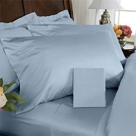 1000 TC Royal Egyptian Cotton 7PC FRENCH BLUE Bedding Set Queen Size