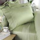1000 TC Royal Egyptian Cotton 7PC SAGE Bedding Set Queen Size