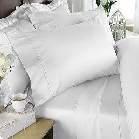 1000 TC Royal Egyptian Cotton 7PC WHITE Bedding Set King Size