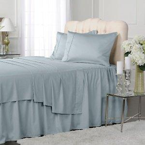 1000 TC Royal Egyptian Cotton 7PC Anthranon Grey Bedding Set King Size