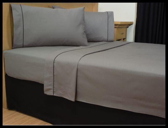 1000 TC Royal Egyptian Cotton 7PC Silver Grey Bedding Set King Size