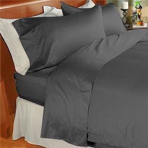 1000 TC Royal Egyptian Cotton 7PC Carbon Grey Bedding Set King Size