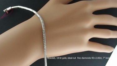 Bracelet, very fine diamonds,18-kt white gold