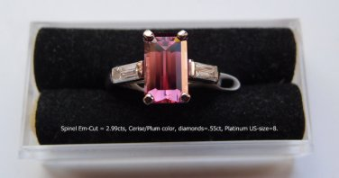 Spinel  Gemstone, Cerise/Plum/Pinkish are the colors