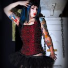 Black Micro Mini Tulle Adult TuTu Cyber Goth Skirt small
